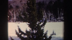 1962: snow covered area trucks and cars passing by NEW YORK Stock Footage