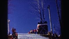 1962: spectators watch skier jump NEW YORK Stock Footage