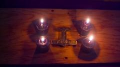 THors hammer symbolic pagan Stock Footage