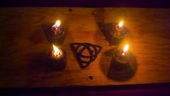 Triquetra celtic symbol Arkistovideo