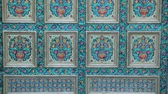 The pattern of the indian door Stock Footage