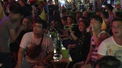 Young Adults Party on Khao San Road Stock Footage