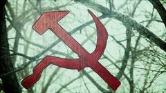 Communism communist hammer and sickle Stock Footage