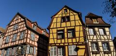 Colorful traditional french houses in Petite Venise, Colmar Stock Photos