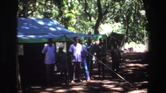 1969: camp organisation for event at hill station. SOUTH AFRICA Stock Footage