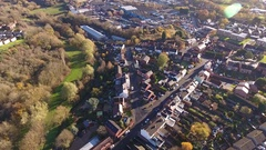 Aerial view of a housing estate in Stourbridge. Stock Footage