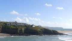Time lapse shot of Challaborough bay in England Stock Footage