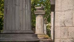 Many historic pillars Stock Footage