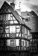 Strasbourg, part of nice house in Petite France area. Stock Photos