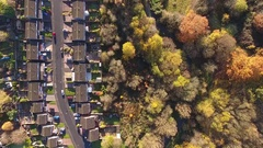 An English street in Autumn. Stock Footage