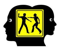 Domestic Conflict Stock Illustration