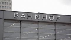 Bahnhof train station sign, Berlin, Germany Stock Footage