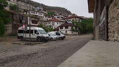 Old street in Safranbolu Stock Footage