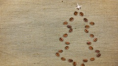 Coffee Christmas Tree Background. Stock Footage