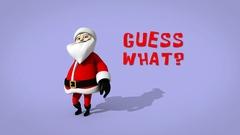 Cartoon Santa Christmas card Stock After Effects
