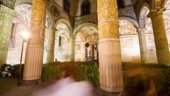 Time lapse 4K of The Palazzo Vecchio entrance Stock Footage