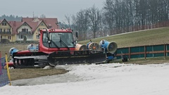 Snow making machines Stock Footage