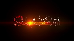 Fire Red Light Elegant 3D Shatter Logo Reveal Dark Stylish HD Animation Intro Stock After Effects