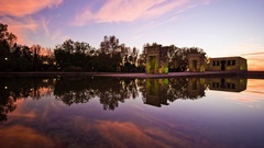 Timelapse of a sunset in the Temple of Debod in Madrid, Spain. Stock Footage