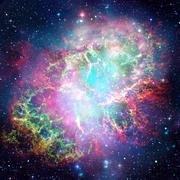 Colorful space nebula. Elements of this image furnished by NASA. Stock Photos
