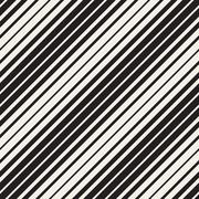 Vector Seamless Black and White Parallel Diagonal Stripes Pattern Stock Illustration