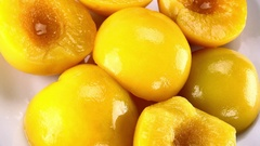 Not loopable preserved Peaches (4K) Stock Footage
