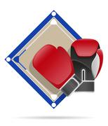Boxing ring vector illustration Stock Illustration