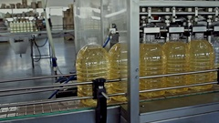 Production of sunflower oil Stock Footage