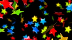 Abstract Loopable Background with nice falling multicolor stars Stock Footage