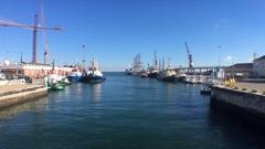 Rio Tejo, Tagus River Lisbon In Portugal Stock Footage