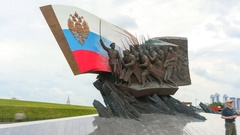 Monument to the heroes who fell in the First World War on Poklonnaya Hill Stock Footage