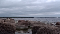 Granite rocks at the Finnish Baltic Coast Stock Footage