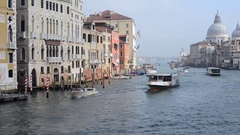 Boats sailing on the Grand Canal, Venice, Italy Stock Footage