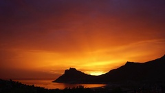 Hout Bay sunset Stock Footage