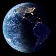 Earth in space, 3d render Stock Illustration