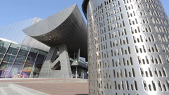 The Lowry at Salford Quays, Manchester, Lancashire, England, UK, Europe Stock Footage