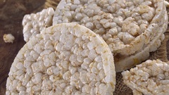 Rice Cakes (not loopable; 4K footage) Stock Footage