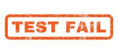 Test Fail Rubber Stamp Stock Illustration