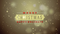 Merry Christmas holiday loop background Stock Footage