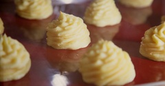 Eclairs are prepared in the oven, Time-lapse, 4k Stock Footage