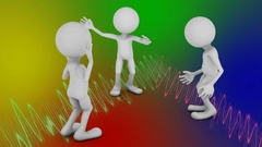 Dancing faceless mans Stock Footage