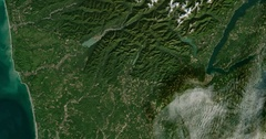 High-altitude overflight aerial of Washington state's Olympic mountains. Stock Footage