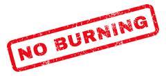 No Burning Rubber Stamp Stock Illustration