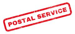 Postal Service Rubber Stamp Stock Illustration