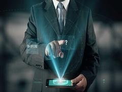 Businessman Customer Engagement Marketing Brand Communication On-Offline Media Stock Footage