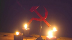 Communist symbol symbolism workers socialism 1 222 Stock Footage