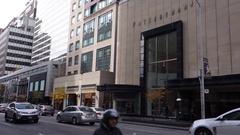 Toronto bloor street luxury shopping area Stock Footage