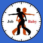 Job or Baby Stock Illustration