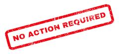 No Action Required Rubber Stamp Stock Illustration