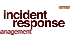 Incident response animated word cloud. Stock Footage